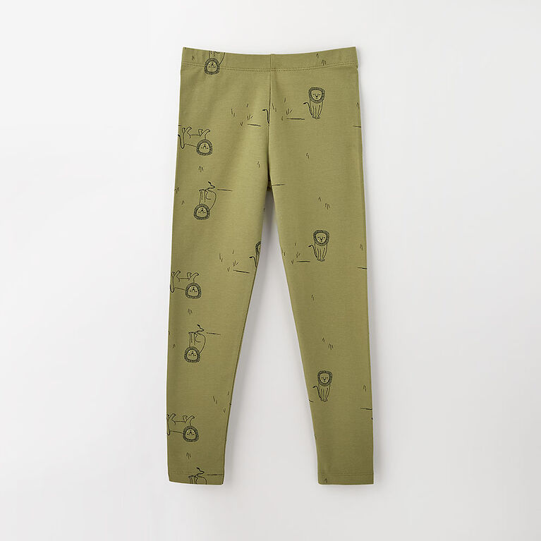 12-18m legging en coton biologique -  imprimé vert pâle