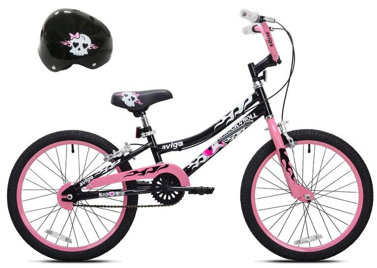 Avigo Rock N Roll with Helmet - 20 inch Bike