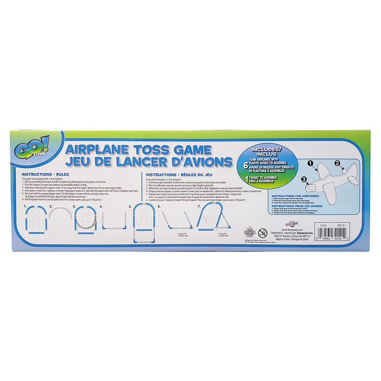 Go! Zone Airplane Toss Game