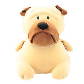 Animal Adventure Squeeze with Love -Plush Pug - Tan
