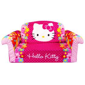 Marshmallow Furniture 2-in-1 Flip Open Couch Bed Sleeper Sofa Kid's Furniture, Hello Kitty