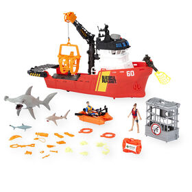 Animal Planet Deep Sea Shark Research Playset - 30 Piece