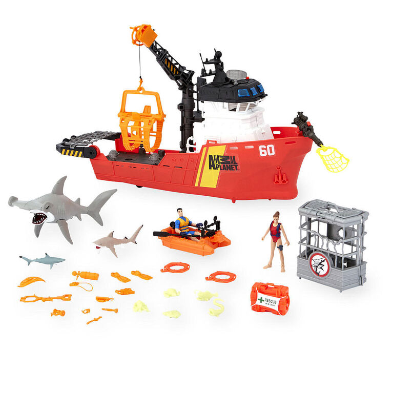 Animal Planet - Deep Sea Shark Research Playset - 30 Piece - R Exclusive