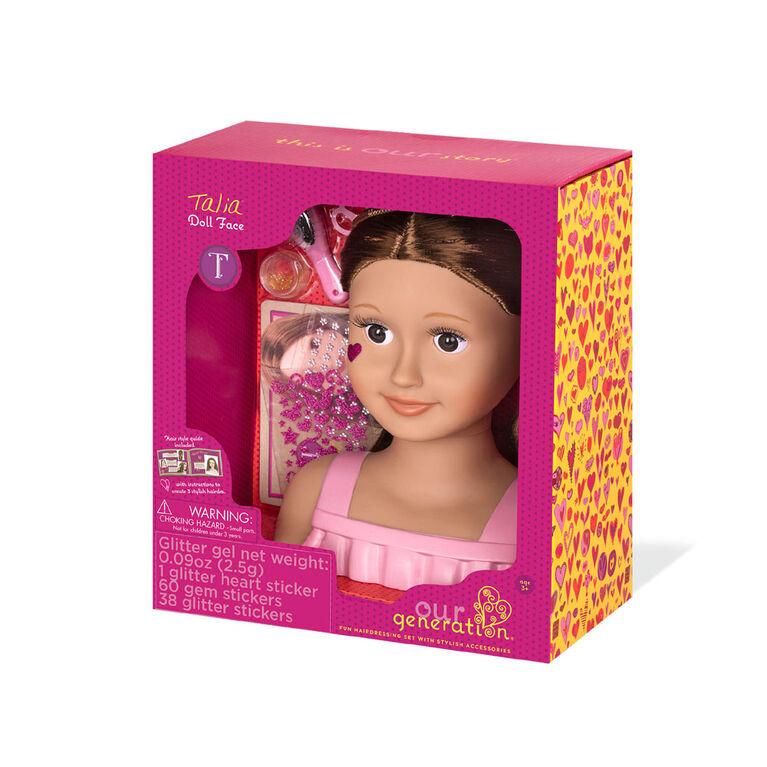 Our Generation, Talia, 9-inch Doll Styling Head - English Edition