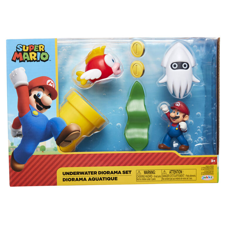 "Nintendo 2.5"" Underwater Diorama Set"