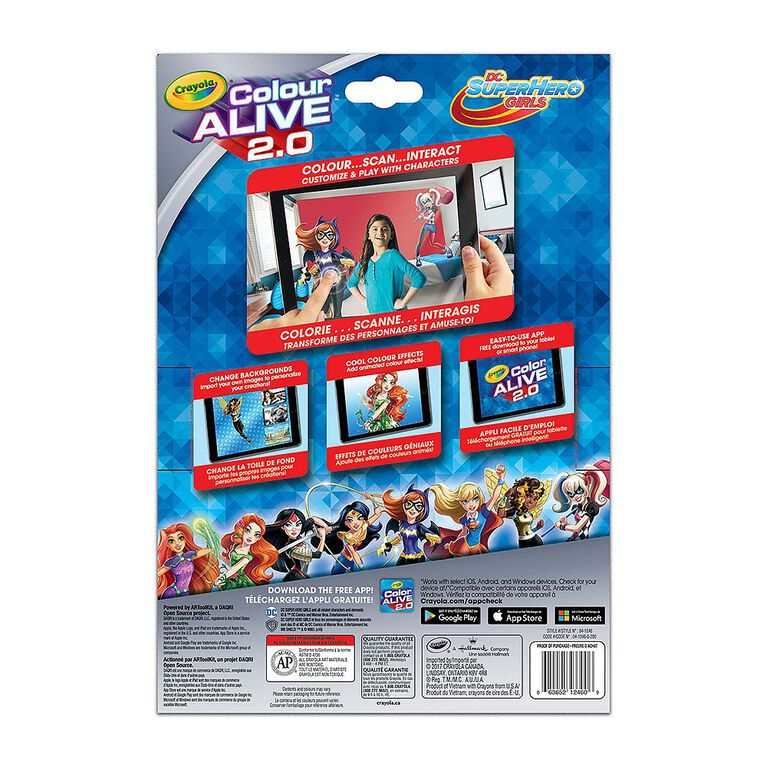 Colour AliveMC 2.0, DC Super Hero Girls.