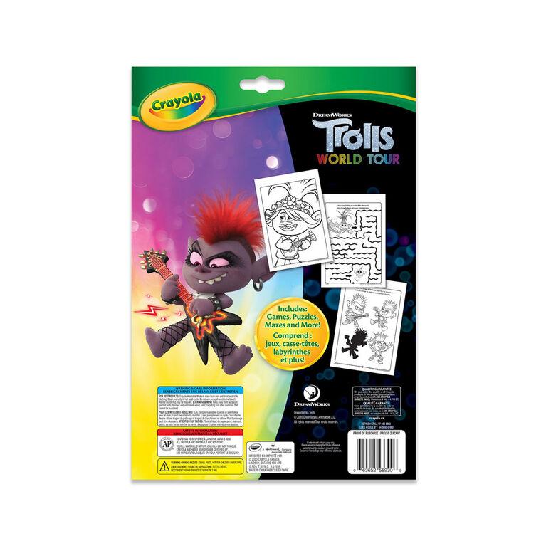 Crayola Colouring & Activity Book, Trolls World Tour