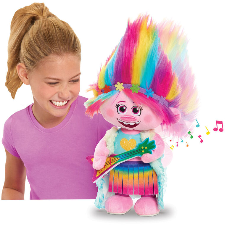 Trolls World Tour Dancing Poppy Feature Plush - English Edition - R Exclusive