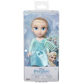 Elsa Petite Poupée Avec Corsage Dur Pailleté et Peigne