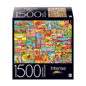 1500-Piece Intense Color Jigsaw Puzzle - Vintage Tin Toys