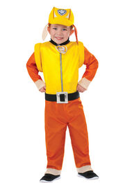 Paw Patrol Rubble Costume-  Size S (4-6)