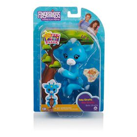 Fingerlings Baby Giraffe - Lil' G (Blue) - Friendly Interactive Toy - Exclusive - R Exclusive