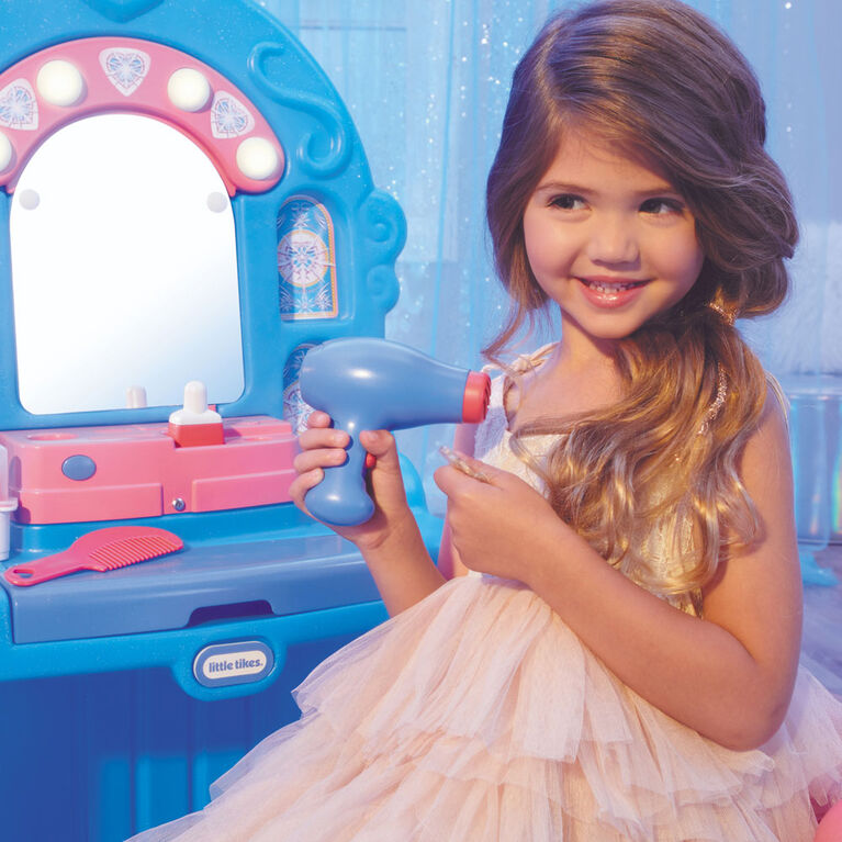 Little Tikes Ice Princess Magic Mirror - Roleplay Vanity with Lights Sounds and Pretend Beauty Accessories - R Exclusive