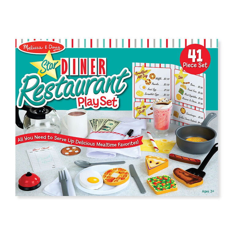 Melissa & Doug - Star Diner Restaurant Play Set