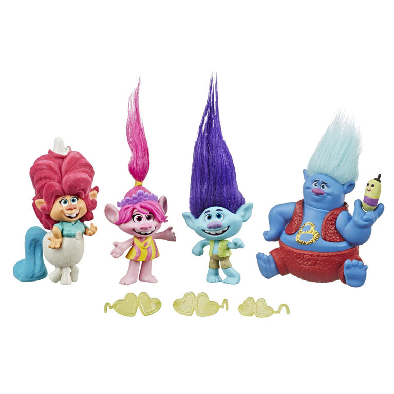 Trolls Lonesome Flats Tour Pack, 5 Small Doll Set