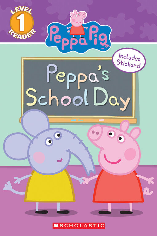 Scholastic Reader Level 1: Peppa Pig: Peppa's School Day - Édition anglaise