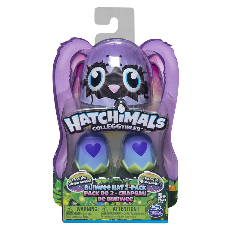 Hatchimals CollEGGtibles, Bunwee Hat 2 Pack with Season 5 Hatchimals (Styles May Vary)