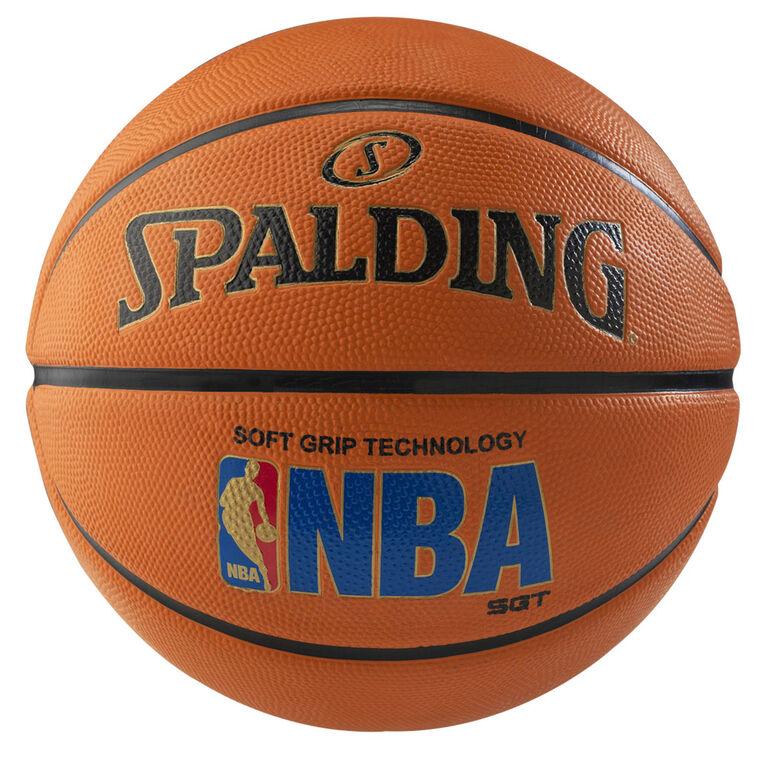Spalding NBA Logoman Soft Grip - Ballon de basketball, Taille 7