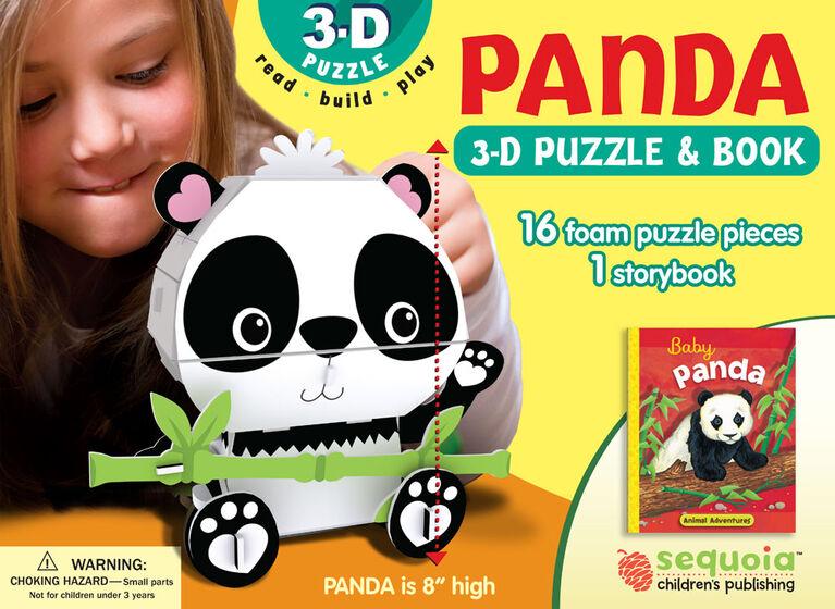 Casse-Tête 3D Et Livre De Panda - Édition anglaise