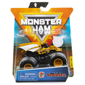 Monster Jam, Official Bakugan Dragonoid Monster Truck, Die-Cast Vehicle, Crazy Creatures Series, 1:64 Scale
