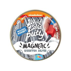 Nickelodeon - Pâte Liquid Lava Putty Magnetic - Quantum Silver (argenté).