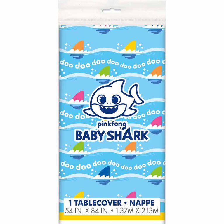 """Baby Shark Nappe en Plastique 54"""" x 84"""""""