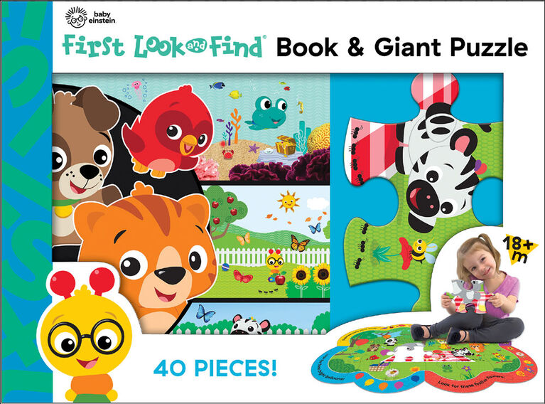 My First Look and Find Giant Puzzle - Baby Einstein - English Edition
