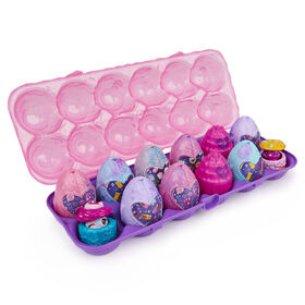 Hatchimals CollEGGtibles, Boîte de 12 oeufs Secret Snacks Cosmic Candy, édition limitée