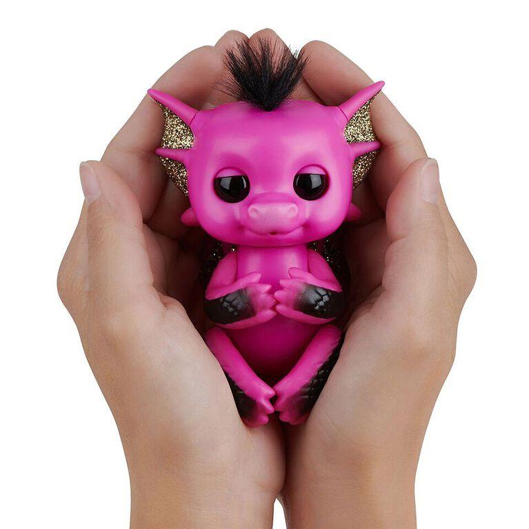 Dragons scintillants Fingerlings -  Lexi (Rose Vif- Or)  - Bébés animaux de compagnie à collectionner - Exclusif. - Notre Exclusivité