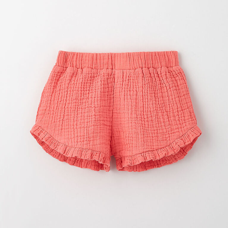 just frilled ruffle short, 3-4y - pink