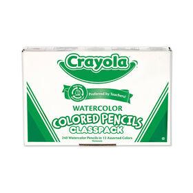 Crayola - Watercolour Pencils Classpack, Assorted, 240/Pack