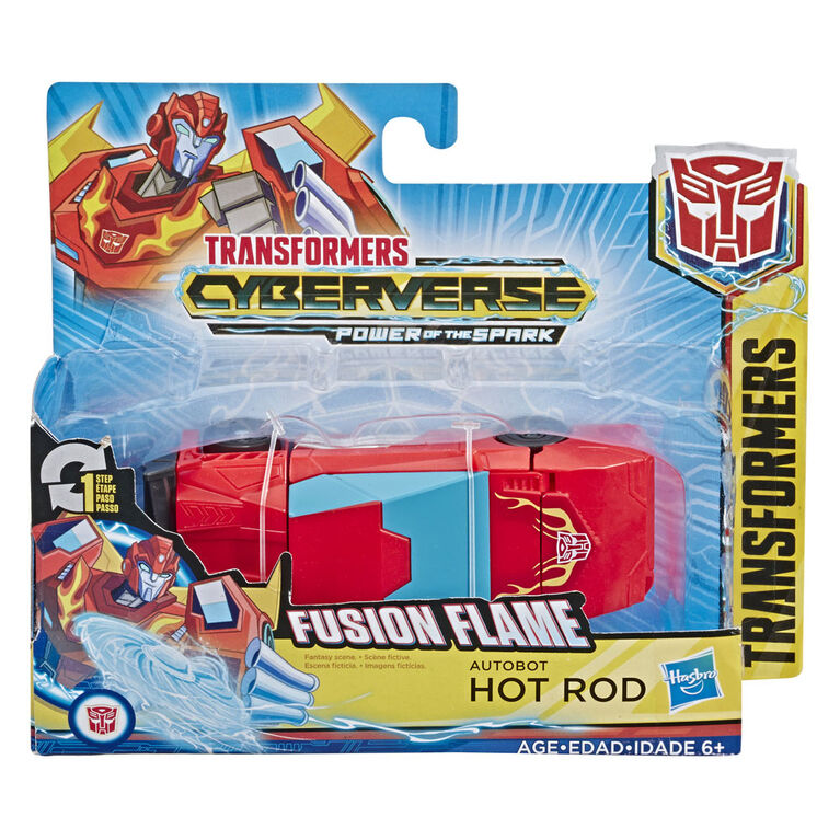 Jouets Transformers Cyberverse, figurine Action Attackers Autobot Hot Rod à conversion 1 étape