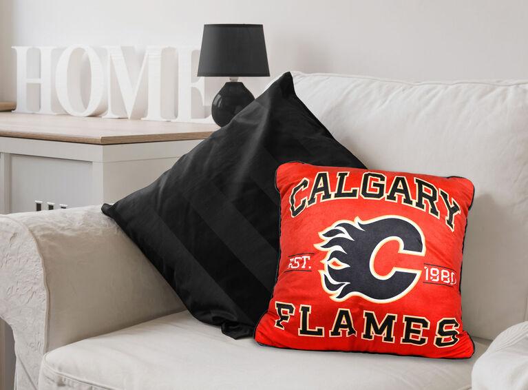 Coussin d'équipe de la LNH - Flames de Calgary