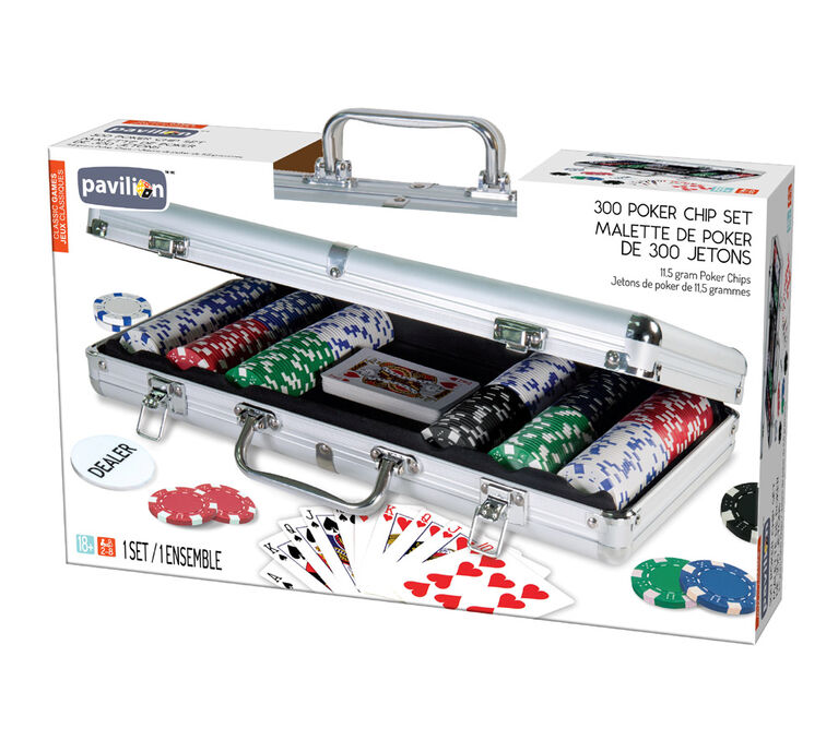 Pavilion Classic Games - 300 Poker Chip Set