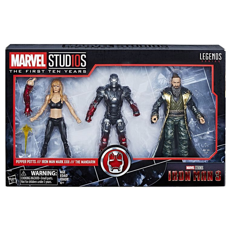 Marvel Studios: The First Ten Years Iron Man 3 Pepper Potts, Iron Man Mark XXII, and The Mandarin - R Exclusive