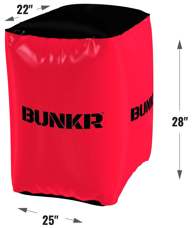 BUNKR Inflatable Red Crate for Blaster Battles