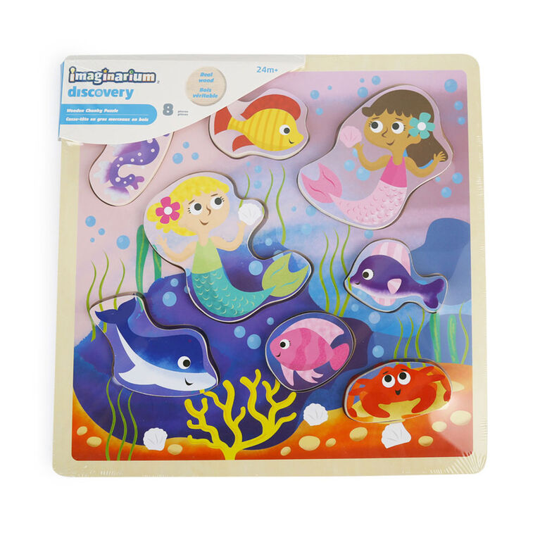 Imaginarium Discovery - Wooden Chunky Puzzle Assortment - Ocean