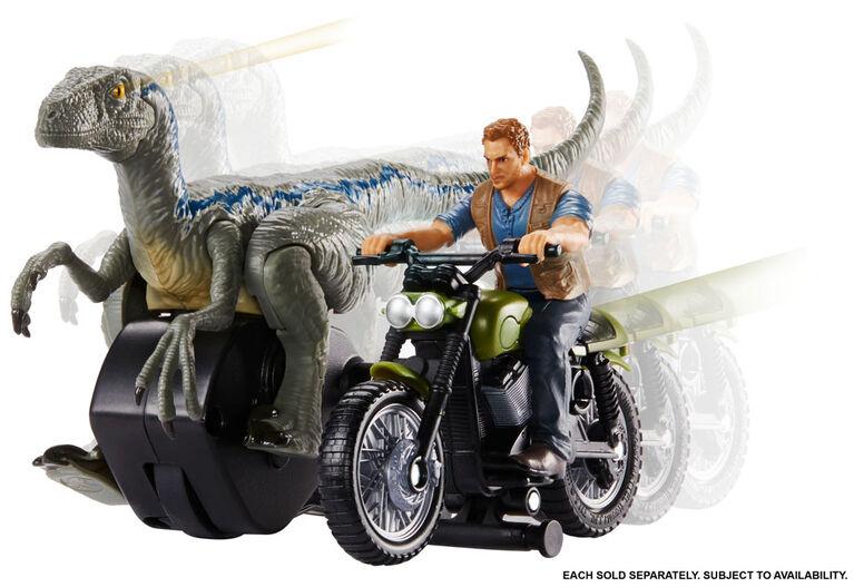 Jurassic World Rip Run Dinos Owen & Motorcycle