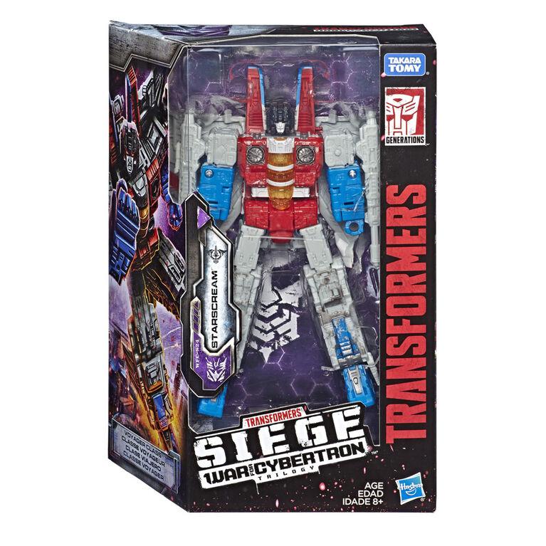 Transformers Generations War for Cybertron, figurine Starscream WFC-S24 de luxe, gamme Siege.