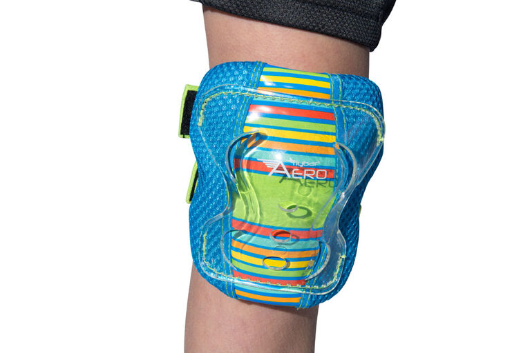 Flybar AERO Elbow Knee and Wrist Guard Junior Safety Set for Ages 5 to 10 (Blue)