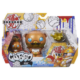 Bakugan, Cubbo Deka Pack with Exclusive Jumbo King Cubbo and Core Cubbo, Geogan Rising Transforming Collectible Action Figures - R Exclusive