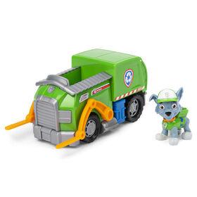 PAW Patrol, Camion de recyclage de Rocky avec figurine à collectionner