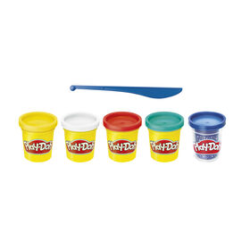 Play-Doh Sapphire Celebration 5-Pack of Modeling Compound Blue Sapphire Sparkle, Green, Red, White, and Yellow