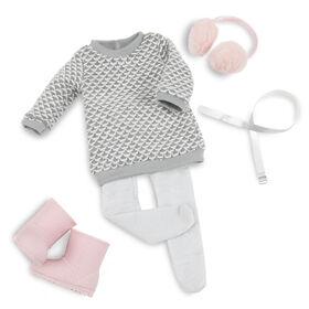 Winter Style, Our Generation, Robe chandail pour poupées de 18po