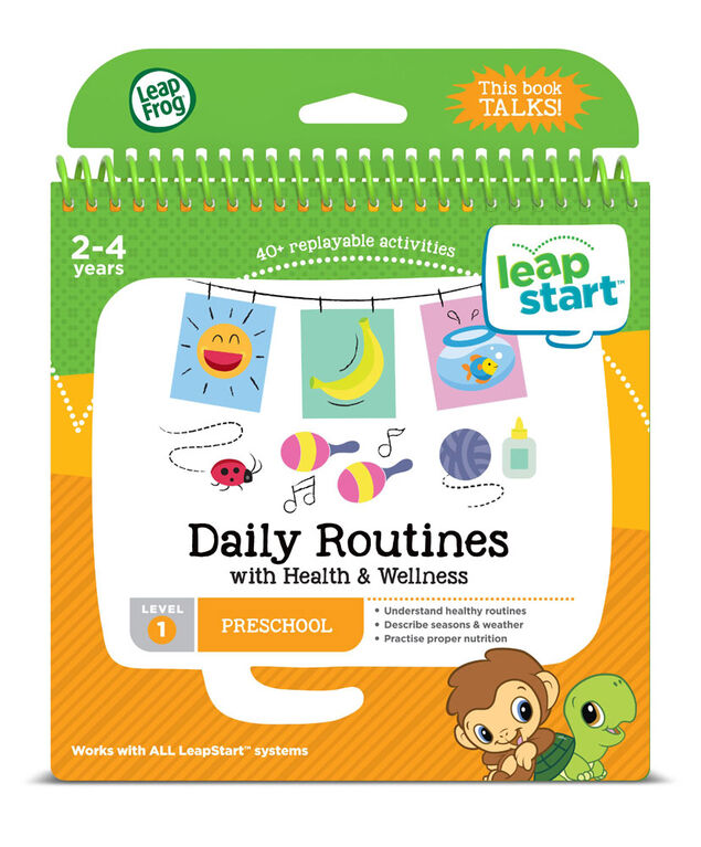 LeapFrog LeapStart Preschool Daily Routines Activity Book - English version