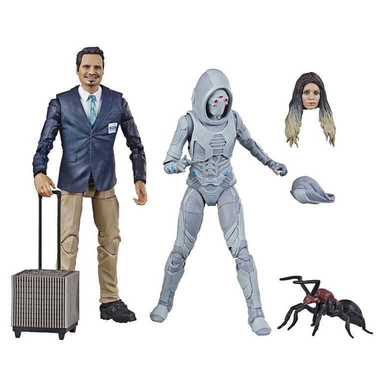 Marvel Legends Series Ant-Man et la Guêpe - Duo de figurines X-Con Luis et Marvel's Ghost.
