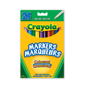 Crayola - 24 Washable Fine Line Markers - Colossal Collection