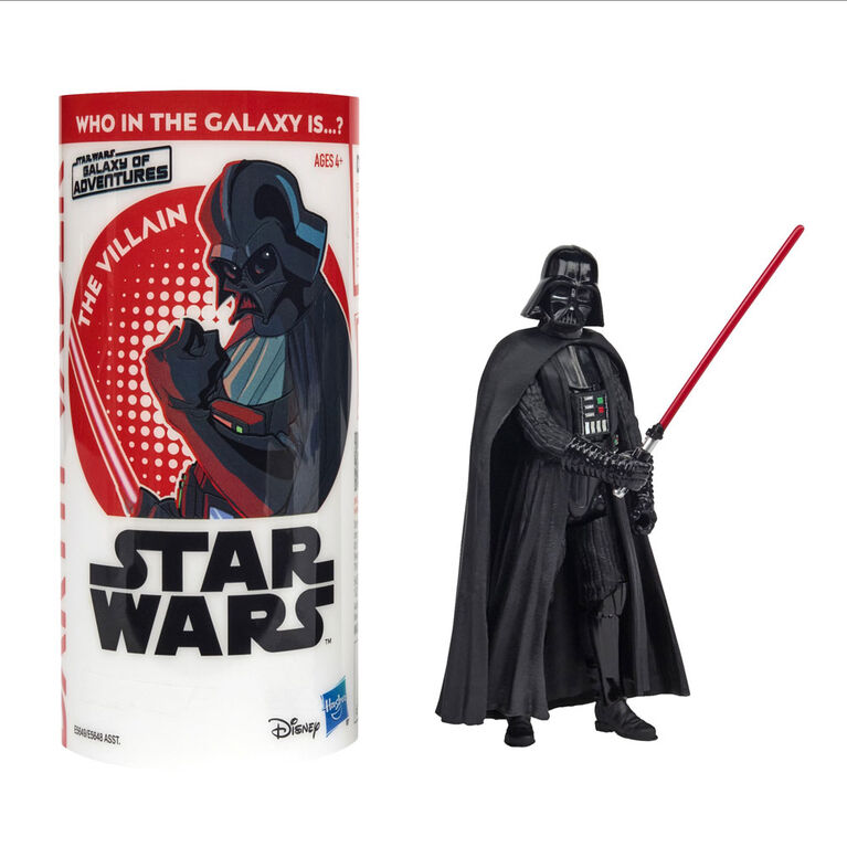 Star Wars Galaxy of Adventure - Figurine Darth Vader avec mini bande dessinée.