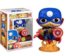Funko POP! Marvel: Infinity Warps - Soldier Supreme (Glow in The Dark) - R Exclusive