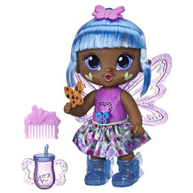 Baby Alive poupée GloPixies Gigi Glimmer, poupée interactive de fée lumineuse